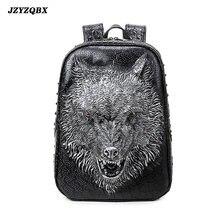3d стереоскопический силиконовый рюкзак с волчьей головой для