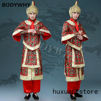 Men Chinese Hanfu Male Cosplay Ancient Tang Commanding Soldiers Mascot Custome Tang Suit Dress Outfit Completed