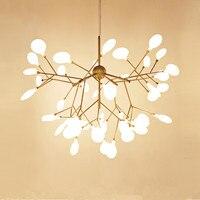 Firefly árvore ramo lustre pendurado luz heracleum g4 led arte decoração do teto lustre de vidro luminárias casa
