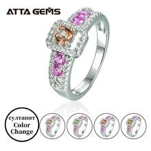 Diaspore srebro pierścionki dla kobiet małe okrągłe cięcie utworzono sułtanit piękny romantyczny pierścionek na prezenty urodzinowe jakości