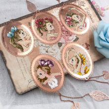 Bookmark Cross-Stitch Fairy-Tale Metal Handmade Princess Gift Girl Angel Dmc-Set Top-Pretty