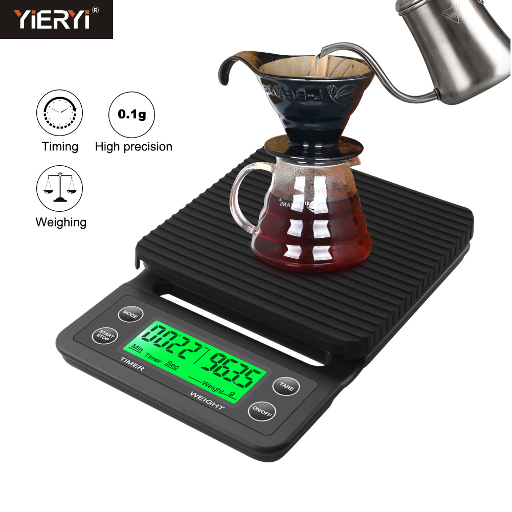 3kg/0.1g 5kg/0.1g Drip Coffee Scale With Timer Portable Electronic Digital Kitchen Scale High Precision LCD Electronic Scales