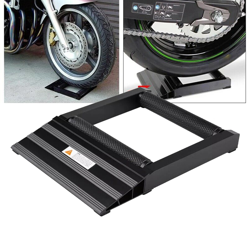 Motorbike Tyre Wheel Tire Chain Cleaning Lubricate Stand Rollers Ramp Lift Stand 7