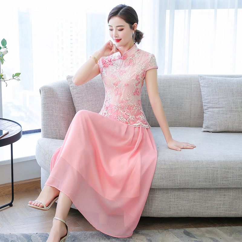 2020 Women Vintage Chinese Dress Wedding Dress Retro Toast Clothing Gown Cheongsam Qipao Party Evening Dress Vestidos Clothes