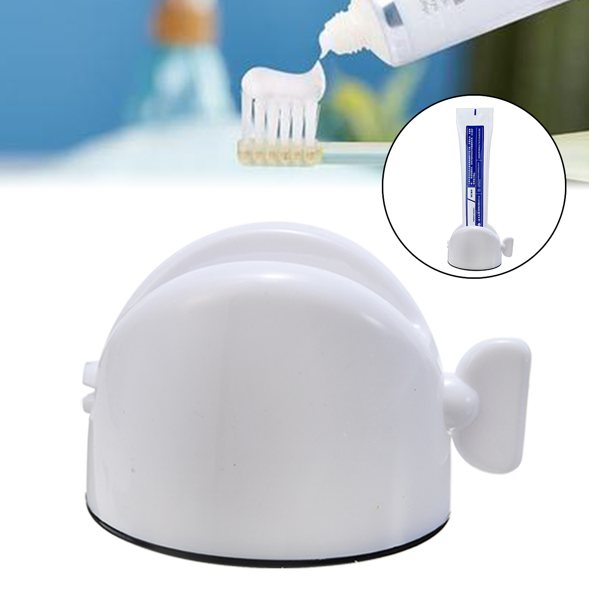 1pc Rolling Tube Toothpaste Squeezer Dispenser Toothpaste Seat Holder Stand Roller Bathroom Accessories