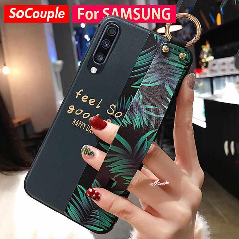 SoCouple 電話ホルダーケースサムスンギャラクシー A70 A50 A40 A30 A20 A10 S9 S8 S10 プラス S10e 注 8 9 10 プラス A50s 手首ストラップケース