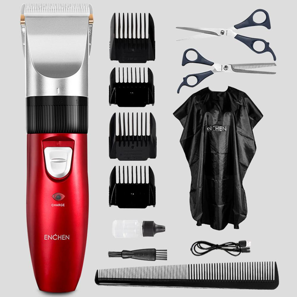 ENCHEN Adult Electric Rechargeable Low Noise Haircut Hair Trimmer Clipper Kit Men's Hair Cutting Machine