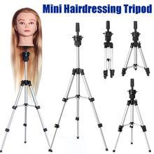 Ajustável tripé suporte manequim cabeça tripé cabeleireiro formação cabeça titular peruca de cabelo suporte de cabelo trainning ferramenta