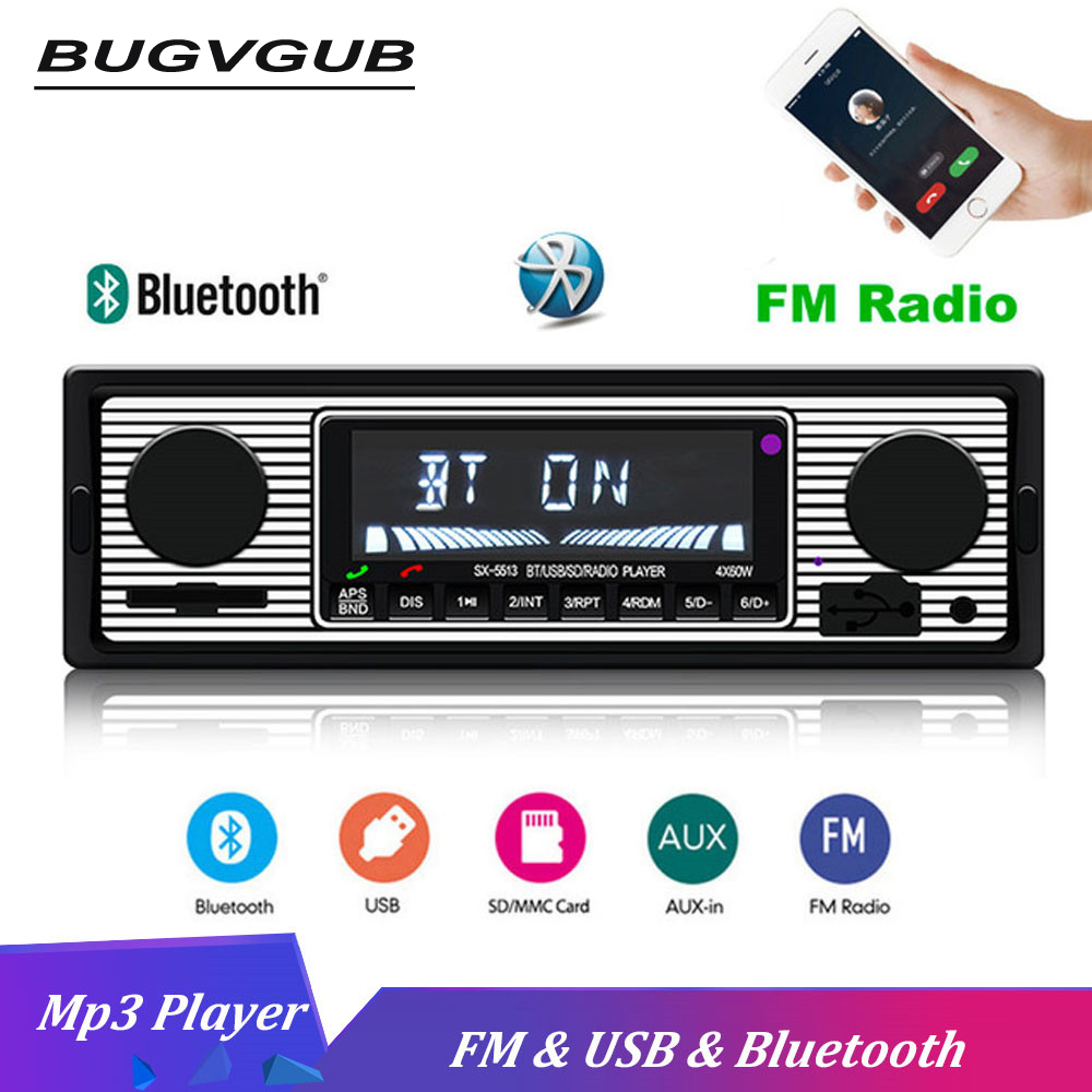 12V <font><b>Car</b></font> <font><b>Radio</b></font> <font><b>Bluetooth</b></font> 1din <font><b>Car</b></font> Stereo FM <font><b>MP3</b></font> <font><b>Player</b></font> USB <font><b>SD</b></font> AUX Audio Auto Electronics <font><b>Autoradio</b></font> <font><b>1</b></font> <font><b>DIN</b></font> <font><b>Radio</b></font> <font><b>Car</b></font> image