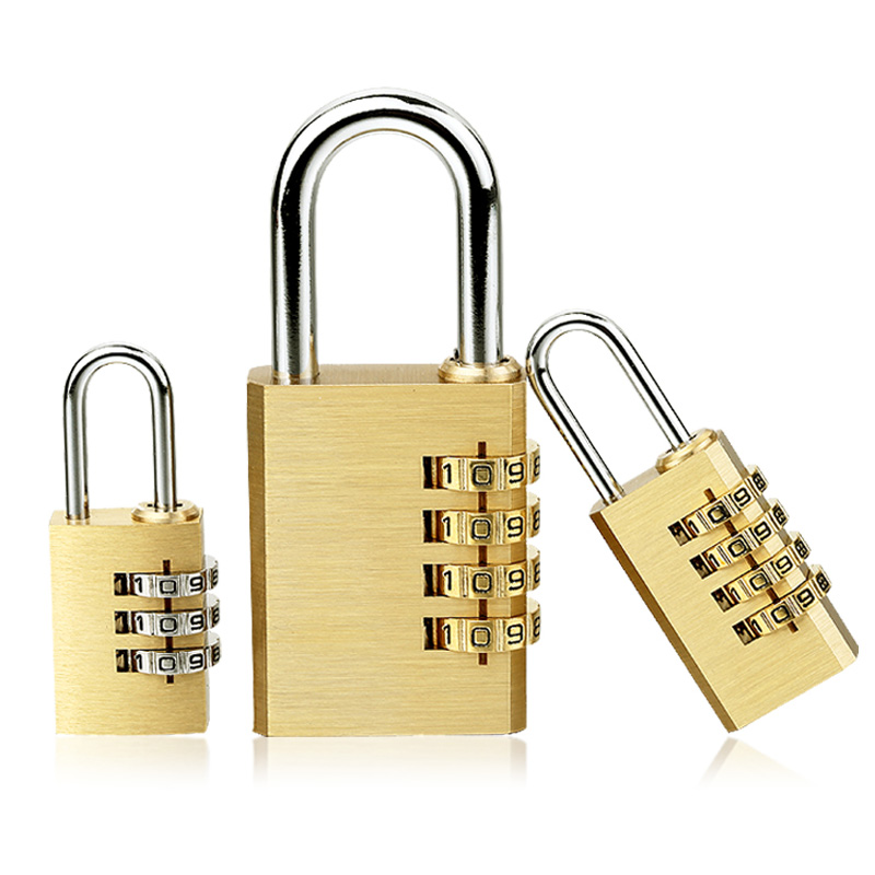 Gym Outdoor Locker Case Copper Stainless Steel High Quality Padlock Solid Brass Lock Digit Combination Password Secret Code For