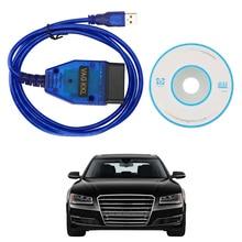 USB Chẩn Đoán Cáp Máy Quét VAG COM 409.1 OBD2 Vag Com 409Com Cho VW Audi Ghế Xe Volkswagen Skoda CH340 Chip Công Cụ Quét giao Diện
