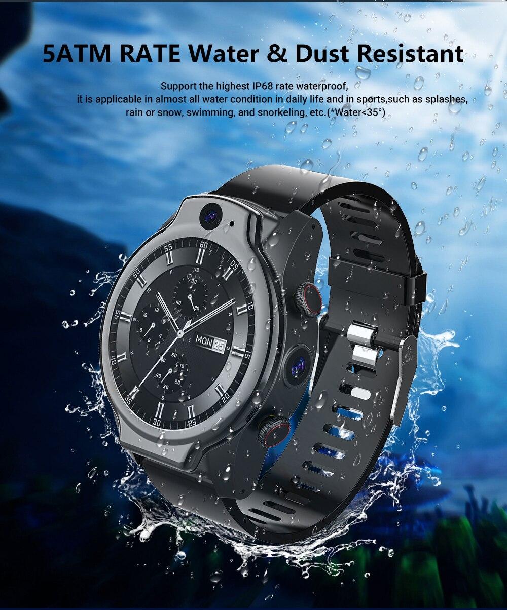 Novo 2021 5atm impermeável mergulho 4g relógio