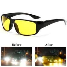 Anti-brilho visão noturna motorista óculos de condução noite aprimorada luz óculos de sol óculos de sol moda carro accessries