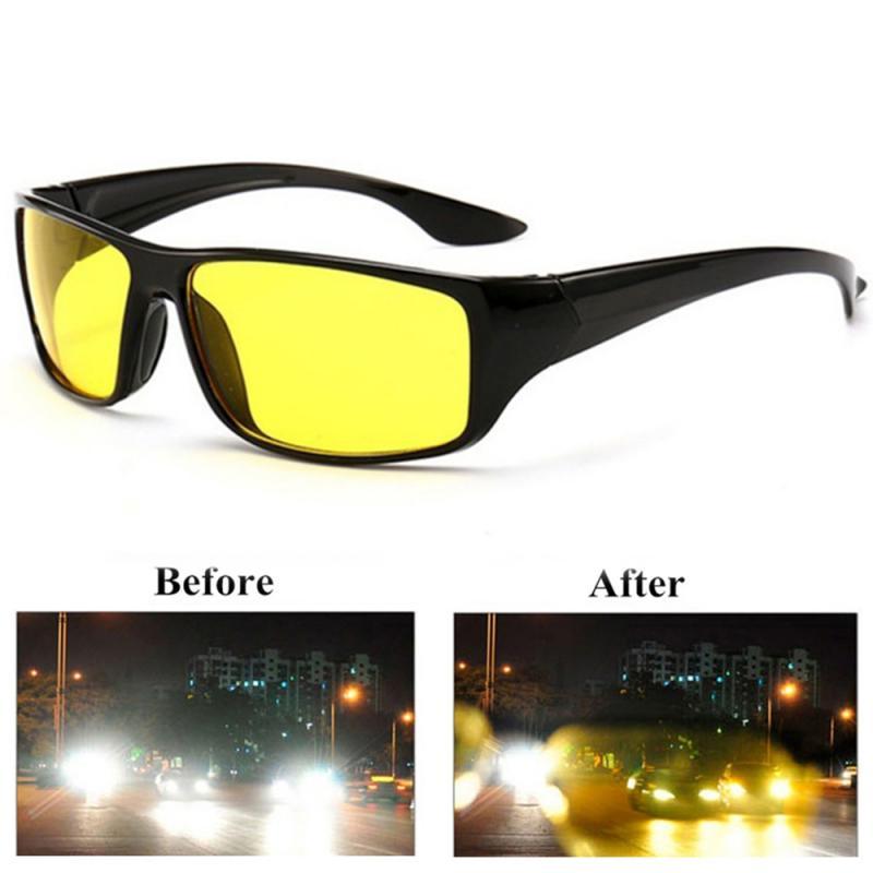 Anti brilho visão noturna motorista óculos de condução noite aprimorada luz óculos de sol óculos de sol moda carro accessries|Óculos de motorista|   -