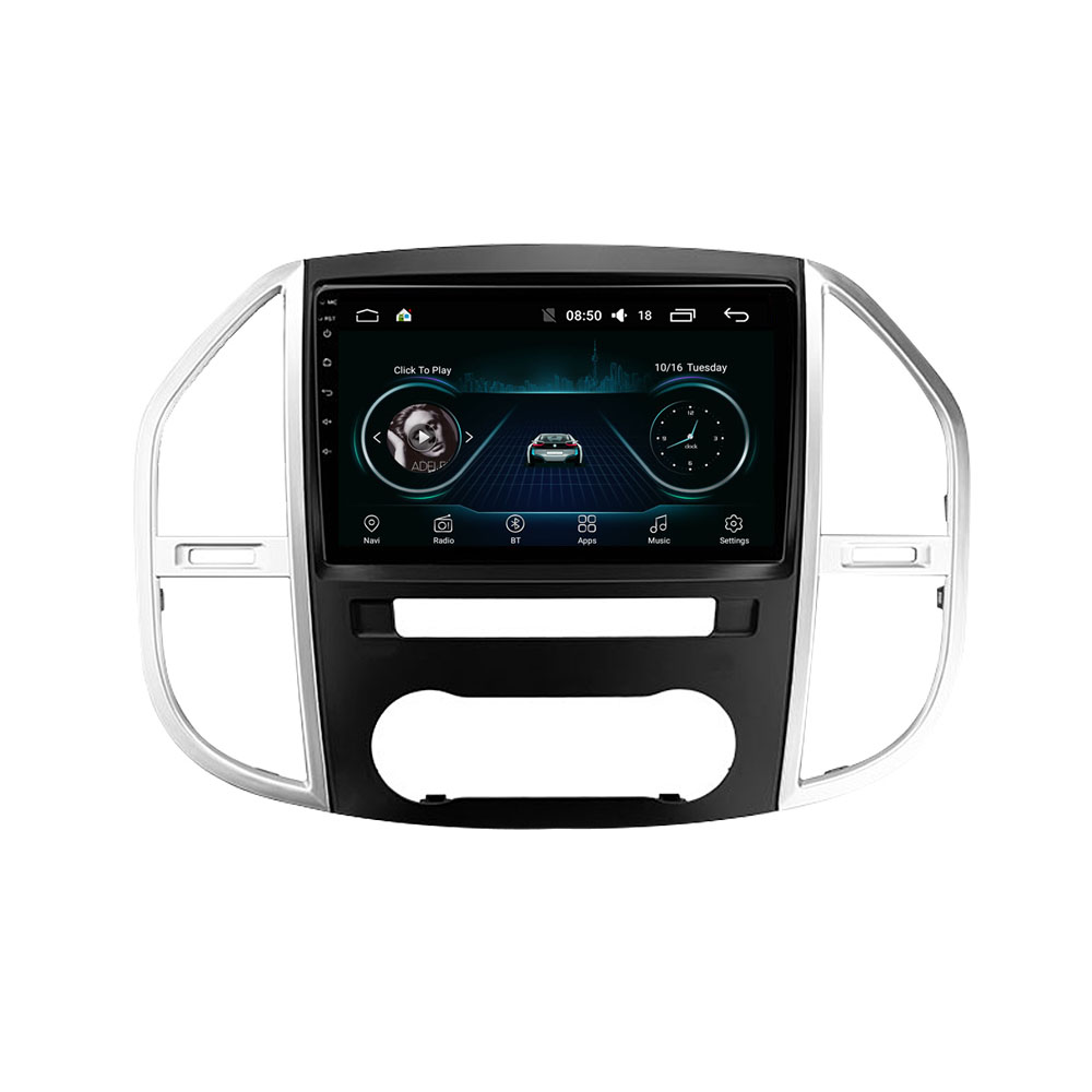 Для Mercedes Benz W447 Vito 3 2014 - 2020 двойной Din 10,1