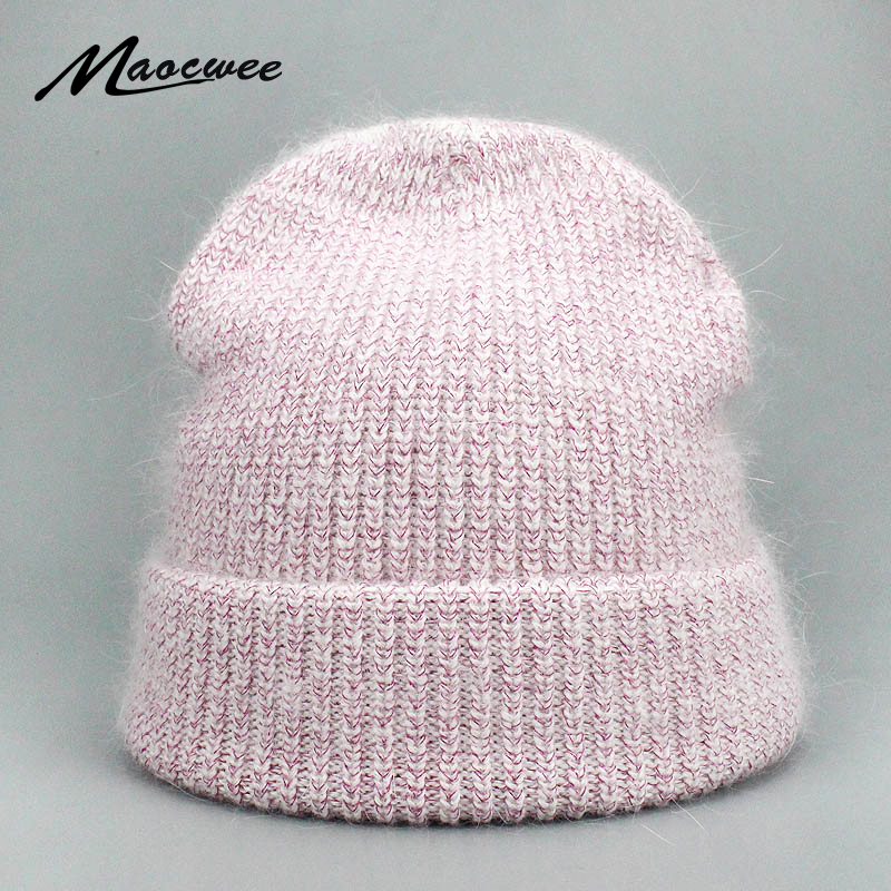 Girl 's Hat Women Hat PomPon Knitted Beanies Skullies Cap Pure Color Spring Autumn Winter Warm For Thick  Raccoon Outdoor