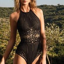 مثير قطعة واحدة ملابس السباحة النساء رفع Monokini Bodysuit ارتداءها عارية الذراعين ثوب السباحة الإناث ملابس الشاطئ لباس سباحة