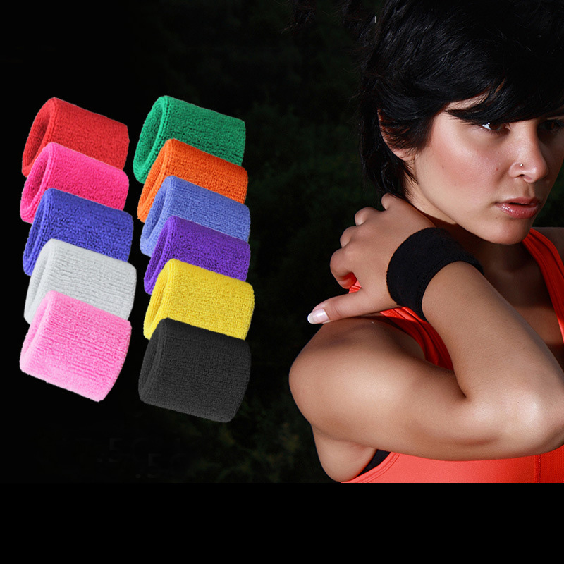 2020 Newest Adjustable Wristband Elastic Soft Brace Wrap Bandage Gym Strap Wrist Support Bands Weight Lifting Exercise Sweatband