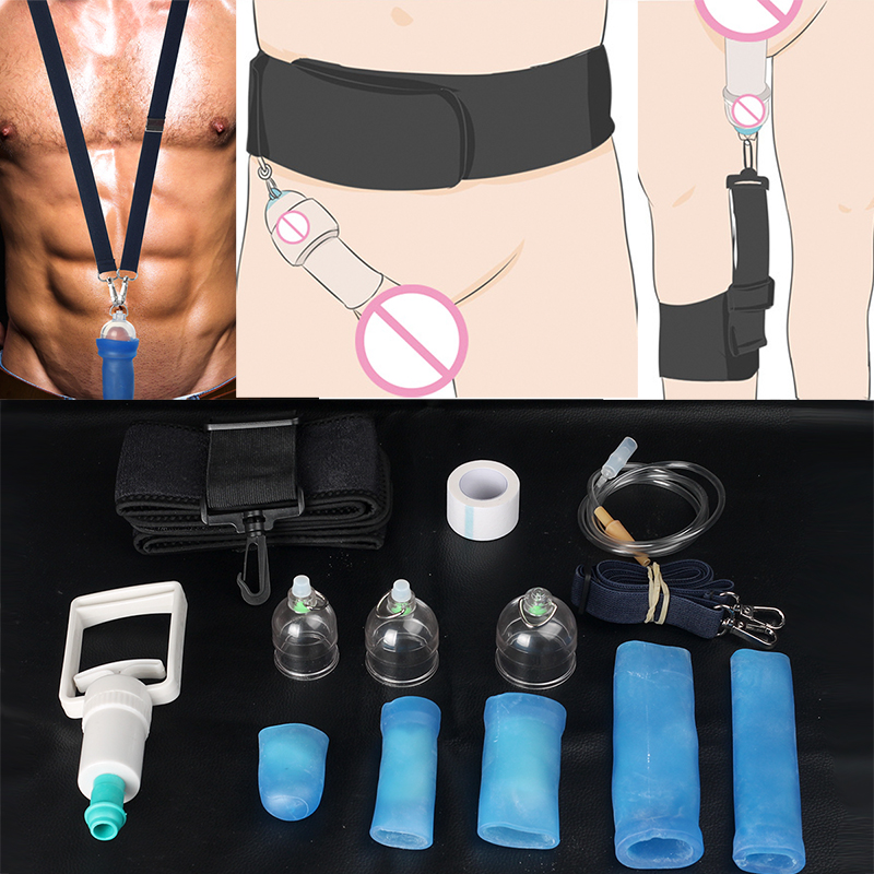 Удлинитель для пениса, увеличитель полового члена, носилки для увеличения мужского пениса, увеличитель напряжения, 70 мм, 6 месяцев, автомати...