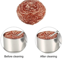 Ball MESH-FILTER Desoldering Cleaning-Nozzle-Tip Copper-Wire-Cleaner Dross-Box Metal