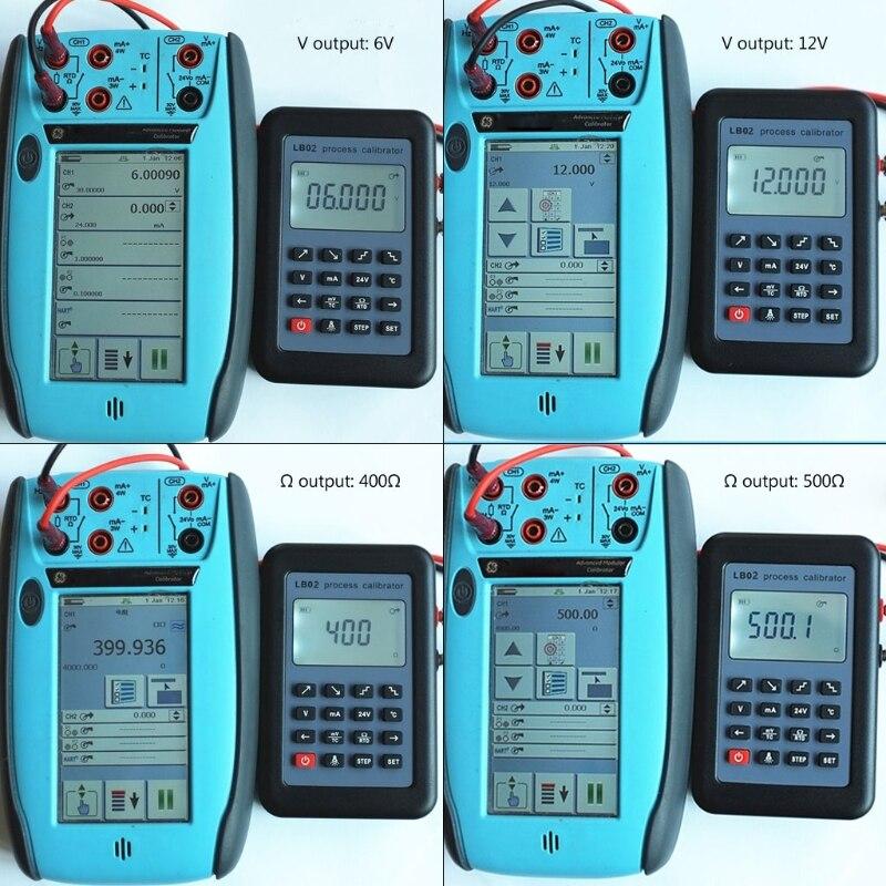 LB02 Calibrateur Testeur de Courant de Résistance Voltmètre Signal 4-20 mA Générateur livraison directe Soutien - 3