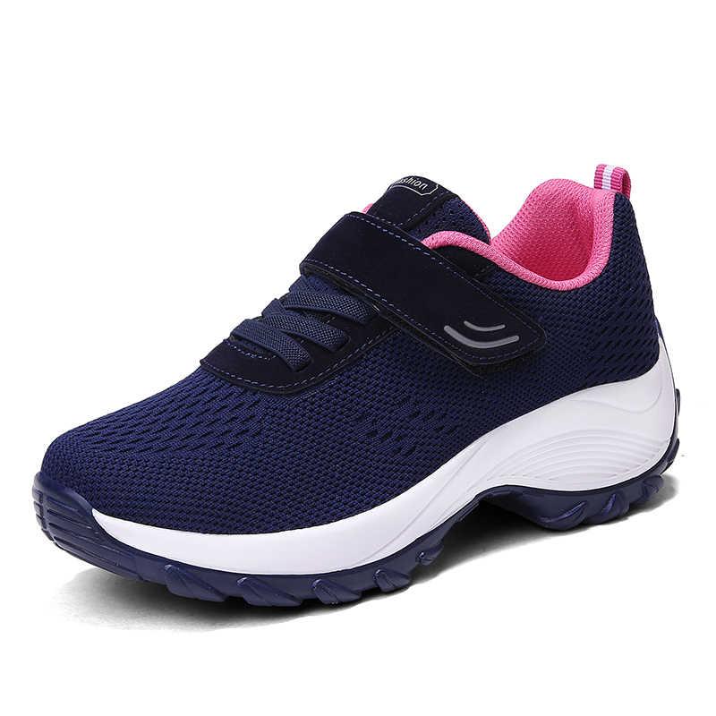 Herfst Vrouwen Schoenen Air Mesh Ademend Comfortabele Schoenen Vrouwen Sneakers Lichtgewicht Ademend Schoeisel Vrouw Schoenen Lace Up
