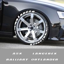 Auto Reifen Buchstaben Räder Label 3D Gummi Aufkleber Für Mitsubishi Lancer 10 3 9 EX Outlander 3 ASX Ralliart Wettbewerb zubehör