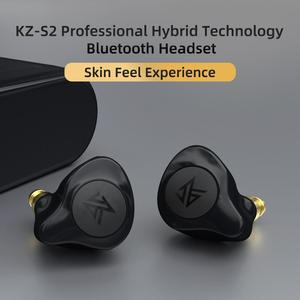 Image 5 - KZ S2 True Wireless TWS Earphones Bluetooth v5.0 Hybrid 1DD+1BA Game Earbuds Touch Control Noise Cancelling Sport Headset