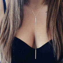 New Arrival Long Tassel Pendant Necklace Gold Color Chain Necklace Women Fashion Wedding Jewelry Wholeslae Birthday Gift new arrival gold color stainless steel rivet pendant necklace fashion jewelry summer long women chain necklace birthday gift