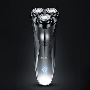 Image 2 - Xiaomi ENCHEN моющаяся перезаряжаемая электробритва BlackStone3 IPX7 Водонепроницаемая бритва индикатор батареи бритвенный станок для бороды