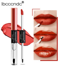 Double Headed Liquid Lipstick Waterproof Matte Clearly Mirror Effect Plumper Lip Gloss Moisturizer Glitter Tint Maquiage