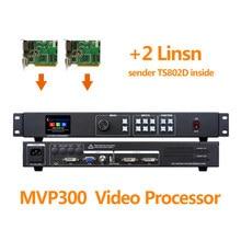 P3.9 tela conduzida interna mvp300 controlador de vídeo com ts802 linsn led envio cartão dvi/entrada vga/hdmi