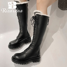 Winter Shoes Platform Snow-Boot High-Heel Thick-Fur Fashion Women Size-34-43 Footwear