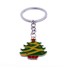 Mini Christmas Tree Design Handbag Keychain Key Ring Decorative Car Key Chain Trinket Souvenir Christmas Gift Key Pendant(China)