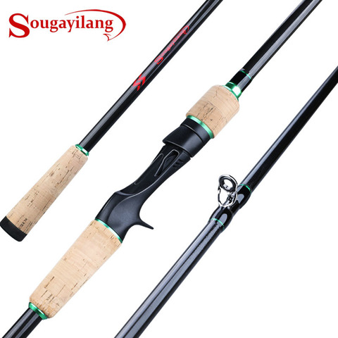 sougayilang 1 8 2 4 m isca vara de pesca 3 secao peso ultraleve fiacao