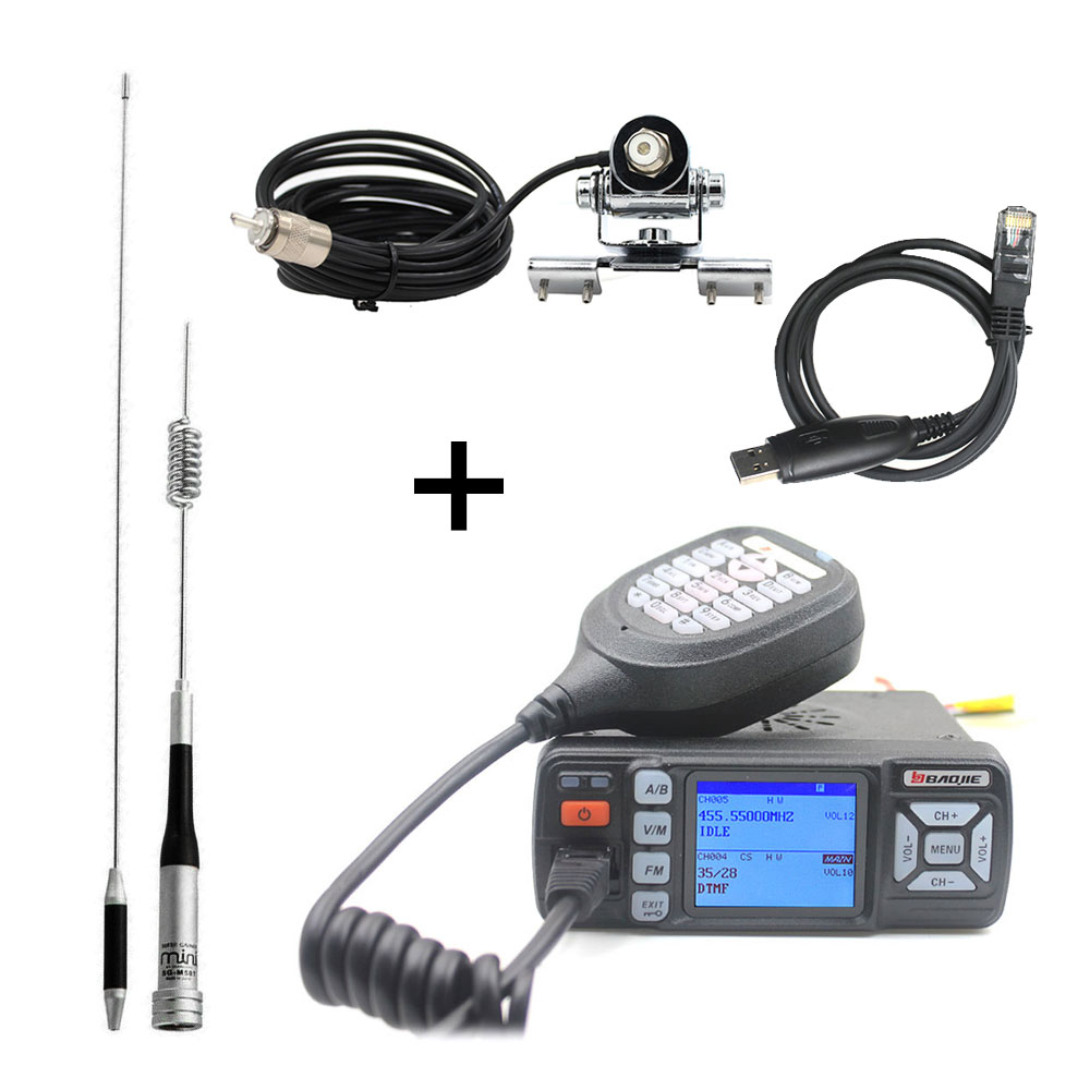 Upgrade Of BJ-218 Baojie BJ-318 Walkie Talkie Mini Dual Band VHF UHF Mobile Radio 20/25W 10 Km Car Radio 10KM Two Way Radio