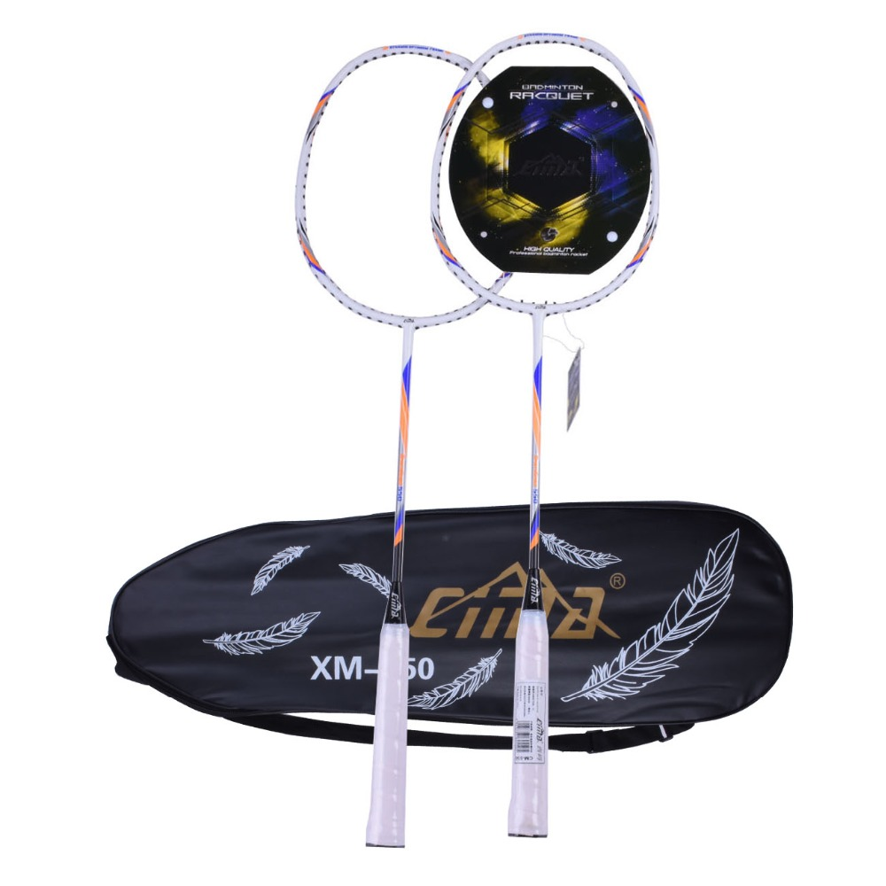 Carbon Badminton Racket Light Aluminum With String Professional Bag Badminton Racquet