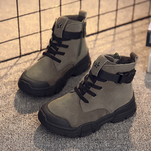 Winter New Kids Ankle Boots Fashion Vintage Boys Martin Boots For Children Waterproof Boots Girls Snow Sneakers Outdoor Non slip