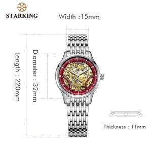 Image 5 - Starking Mechanische Horloge Vrouwen Luxe Rvs Hollow Skeleton Automatische Dameshorloge Chinese Hodinky Damske 5ATM AL0185