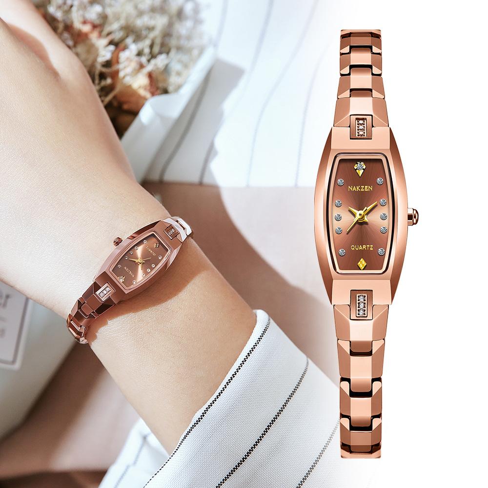 NAKZEN Fashion Women Watches Luxury Ladies Elegant Watch Waterproof Tungsten Steel Wristwatch Gift Watches For Girls