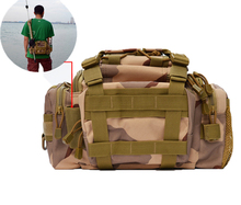Fishing Bag Portable Multifunction Nylon Lure Reel Shoulder Waist Backpack