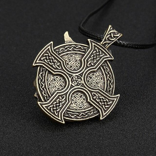 Collier Antique viking argent  4