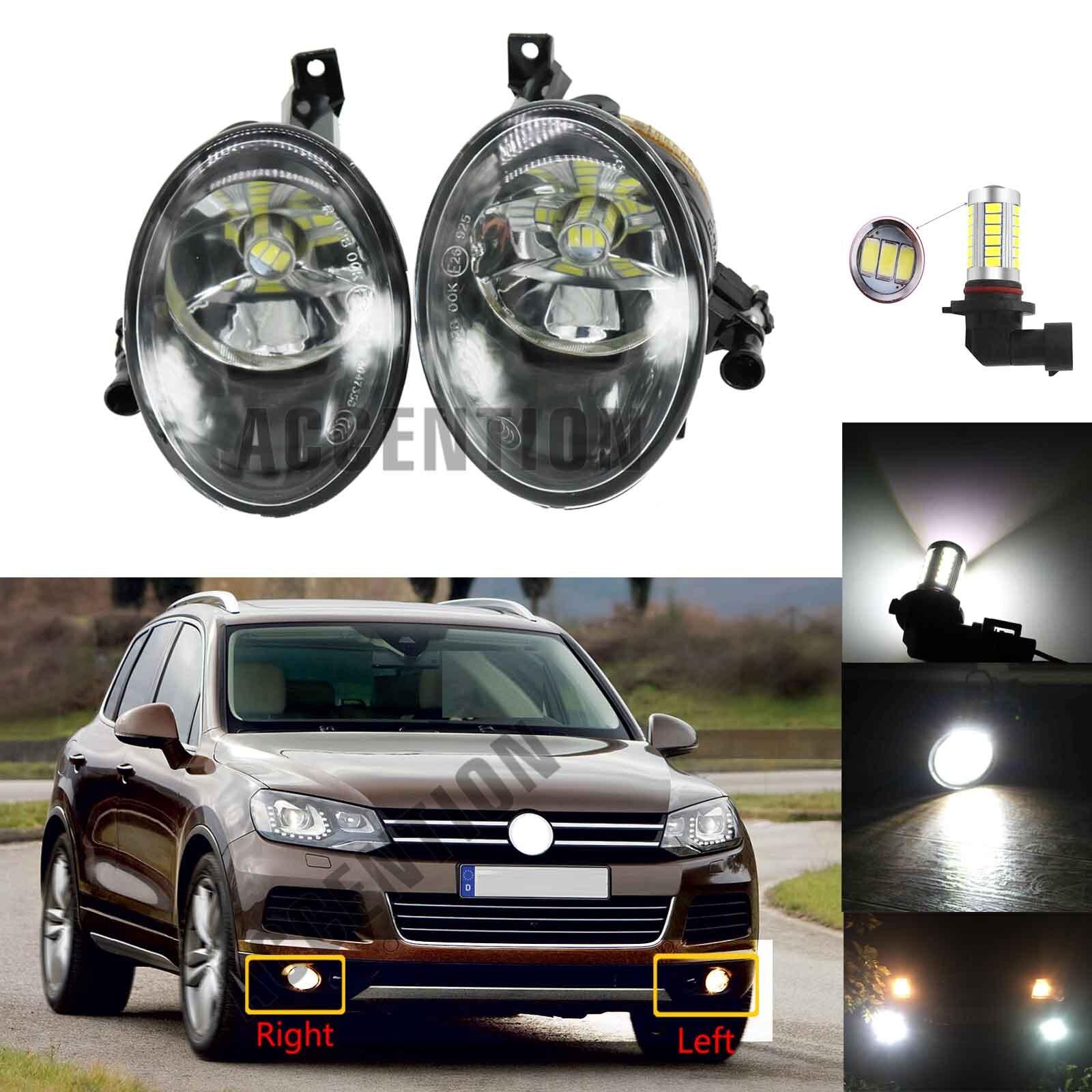 Светодиодный светильник для VW Touareg 2011 2012 2013 2014 авто-Стайлинг спереди светодиодный туман светильник противотуманных фар с лампами накаливан...