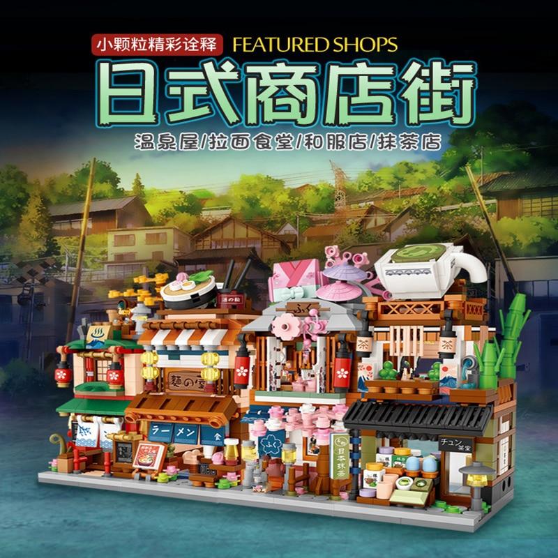 4 в 1 Рекомендуемые магазины лоз мини-блоки Японии на улицу, на сезон весна-осень RAMEN/KIMONNO/матча Расслабляющий игрушки Brinqueos конструктоp