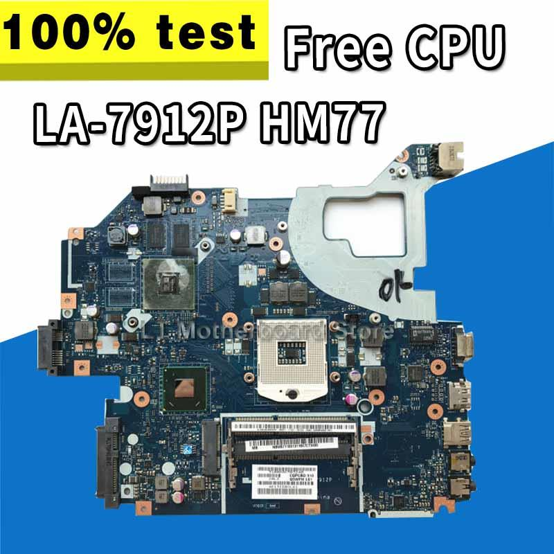 LA-7912P Motherboard Fit For ACER Aspire E1-571G V3-571G V3-571 Motherboard Q5WV1 LA-7912P HM77 PGA989 Test  Free CPU