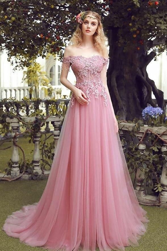 Купить элегантное платье трапеция с длинным бисером розовые кружевные
