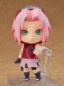 Anime Naruto Haruno Sakura Cute 10cm BJD Action Figure New Ninja Girls Model Toys 1
