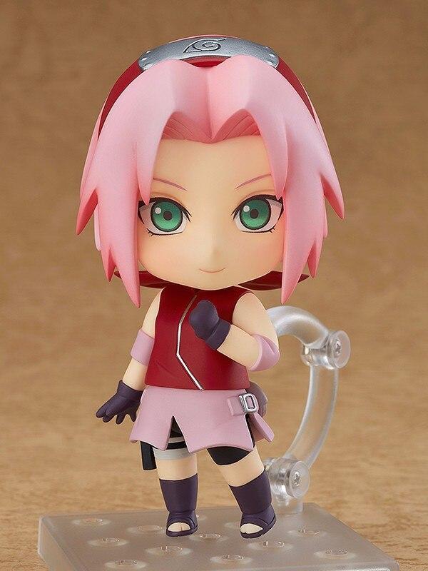 Anime Naruto Haruno Sakura Cute 10cm BJD Action Figure New Ninja Girls Model Toys