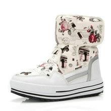 부츠 여성 신발 겨울 여성 따뜻한 모피 방수 어퍼 플러스 크기 패션 비 슬립 단독 무료 배송 새로운 스타일 스노우 부팅