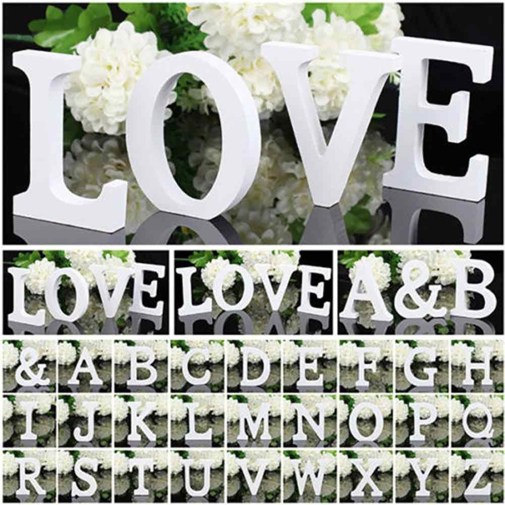 木製手紙結婚式の装飾アルファベットワードウッドホワイト英語の手紙子供少年少女ベビーシャワー誕生日結婚